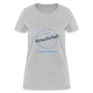 Women's #insulin4all globe tshirt - Women's T-Shirt
