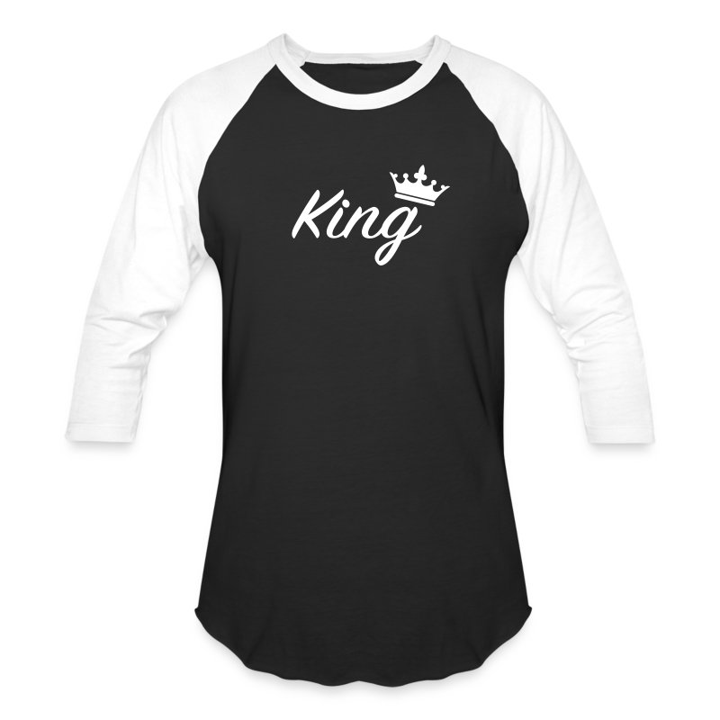 King / couples t-shirt - Baseball T-Shirt
