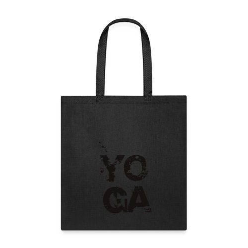 Y O G A Tote Bag - BW - Tote Bag
