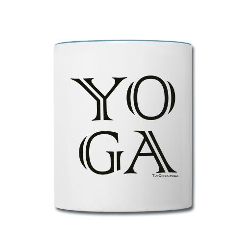 YO G A - Mug - BW - Contrast Coffee Mug