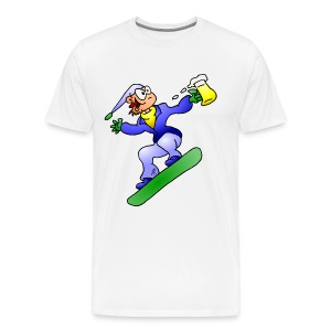 Snowboarding with beer fc T-Shirts - Men's Premium T-Shirt