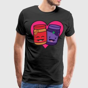 Peanut Butter And Jelly - True Love T-Shirts - Men's Premium T-Shirt