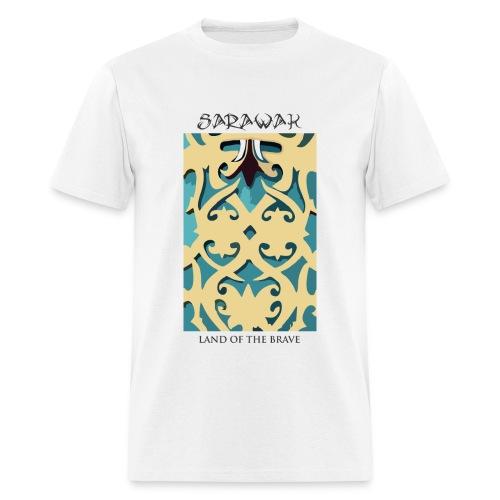 Sarawak Iban Engraving White Mens T Shirt - Men's T-Shirt