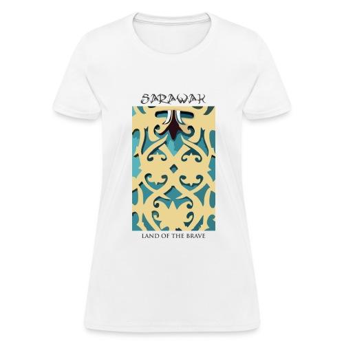 Sarawak Iban Engraving White Women T Shirt - Women's T-Shirt