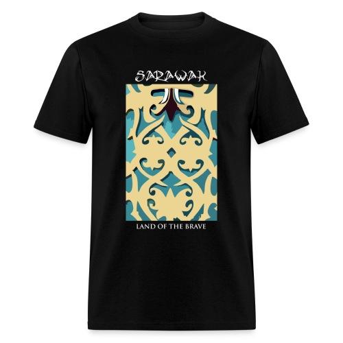 Sarawak Iban Engraving Black Mens T Shirt - Men's T-Shirt