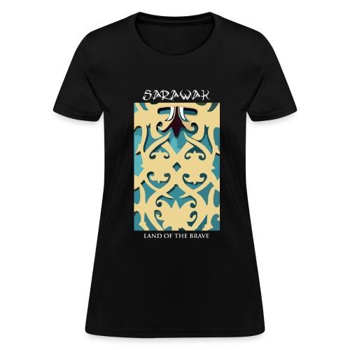Sarawak Iban Engraving Black Women T Shirt - Women's T-Shirt
