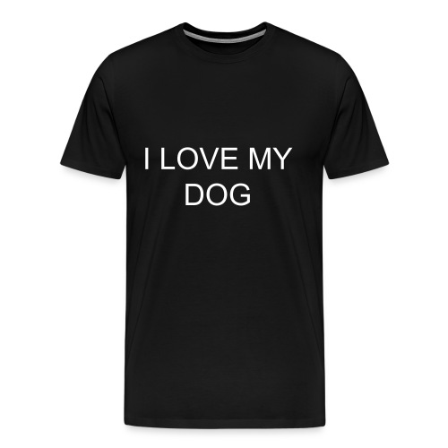 mens large t-shirt dog love - Men's Premium T-Shirt