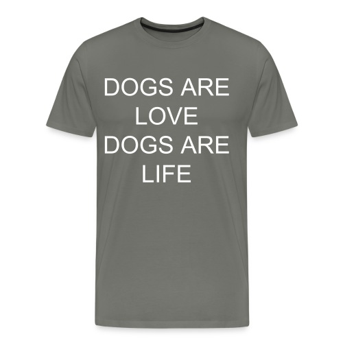 mens dogs are love - Men's Premium T-Shirt