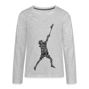 Lacrosse Player Calligram Kids' Long Sleeve T-Shirt - Kids' Premium Long Sleeve T-Shirt