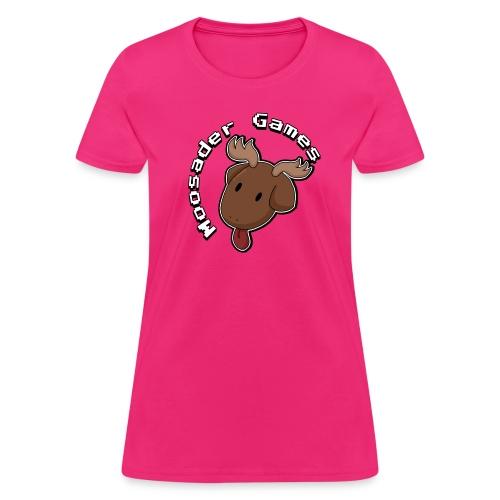 Moose head circle logo (Fem Cut) - Women's T-Shirt