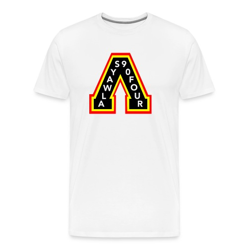 Always White Retro - Men's Premium T-Shirt
