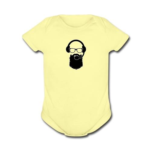 Squishyspud New Logo   - Organic Short Sleeve Baby Bodysuit