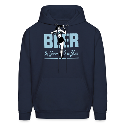 Beer is Good for You Retro Hoodie - Men's Hoodie