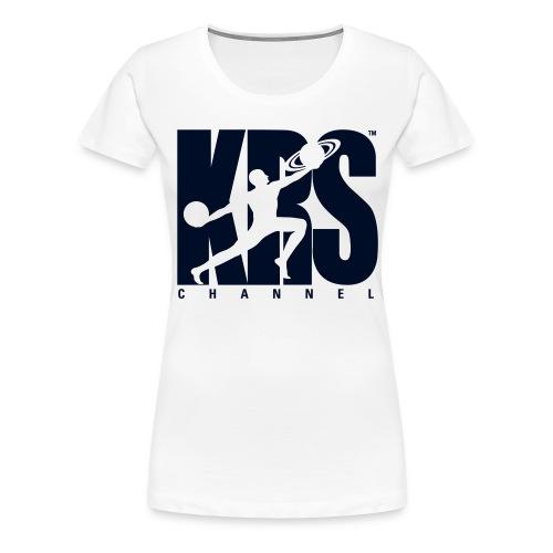 Black Glitter Sparkle KRSchannel Logo T-shirt  - Women's Premium T-Shirt