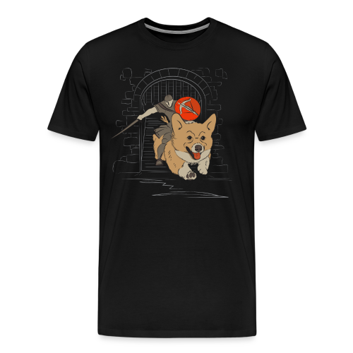 The Charging Corgi Knight - Men's Premium T-Shirt