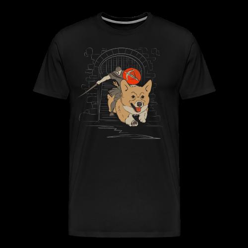 The Charging Corgi Knight - Men's Premium T-Shirt