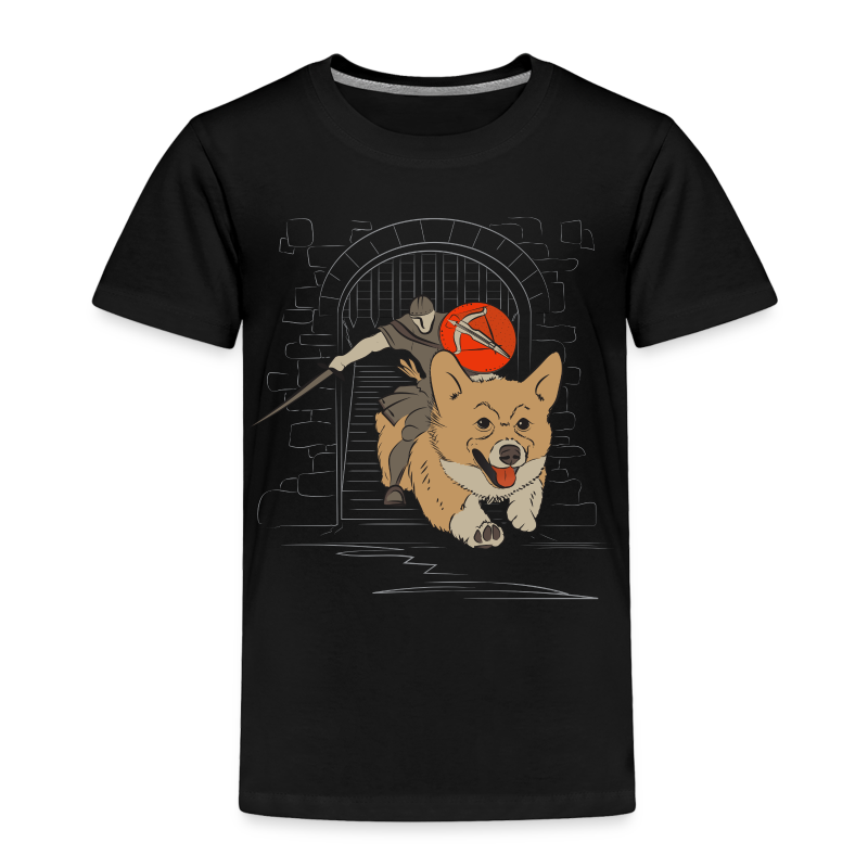 The Corgi Knight - Toddler Version - Toddler Premium T-Shirt