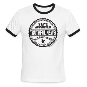 Truthful News FCC Seal - Men's Ringer T-Shirt