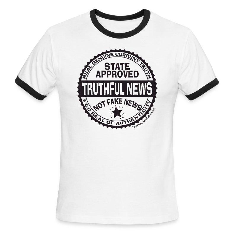 Truthful News FCC Seal - Men's Ringer T-Shirt