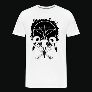Vulture Skull White by Cassy Jack - Men's Premium T-Shirt