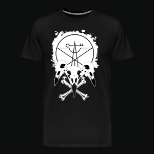 Vulture Skull Black by Cassy Jack - Men's Premium T-Shirt