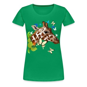 GIRAFFE and BUTTERFLIES - Women's Premium T-Shirt