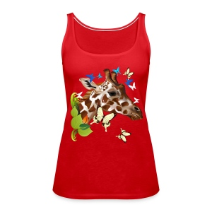 GIRAFFE and BUTTERFLIES - Women's Premium Tank Top