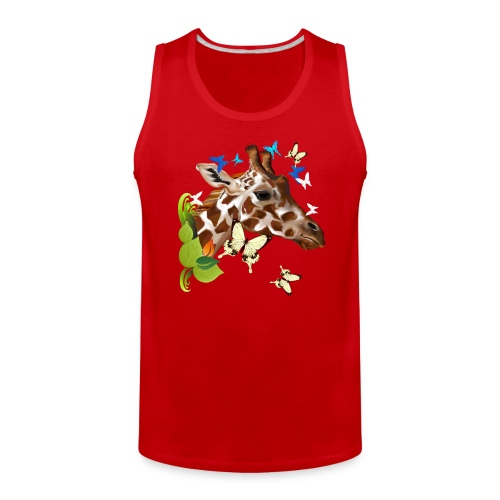 GIRAFFE and BUTTERFLIES - Men's Premium Tank