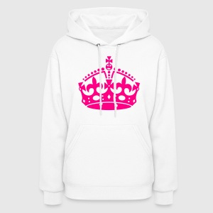 Keep Calm Crown Sweats à capuche - Molleton à capuche pour femmes
