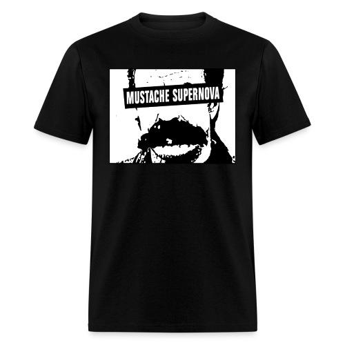 Mustache Supernova T-Shirt - Men's T-Shirt