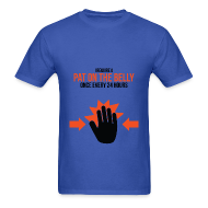 T-Shirts ~ Men's T-Shirt ~ Mens Tee: Belly Pat