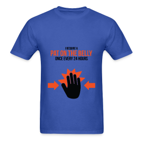 Mens Tee: Belly Pat ~ 351