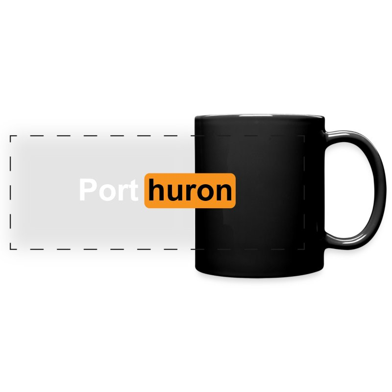 Port Huron Novelty Souvenir Mug - Parody - Full Color Panoramic Mug