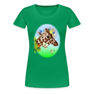 GIRAFFE and BUTTERFLIES-sun - Women's Premium T-Shirt
