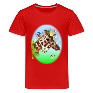 GIRAFFE and BUTTERFLIES-sun - Kids' Premium T-Shirt