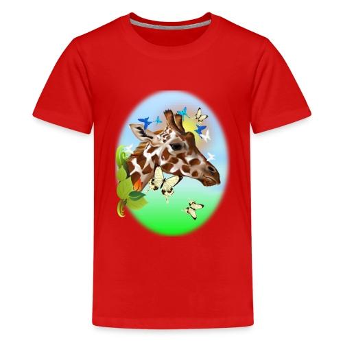 GIRAFFE and BUTTERFLIES-sun - Kids' Premium T-Shirt