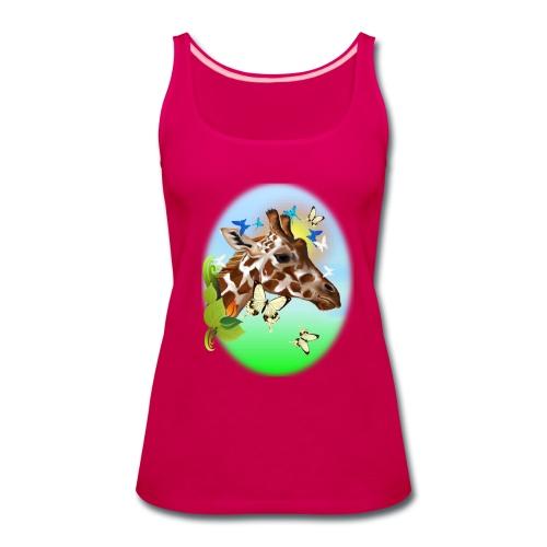 GIRAFFE and BUTTERFLIES-sun - Women's Premium Tank Top