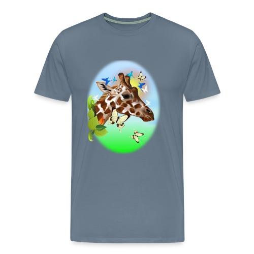 GIRAFFE and BUTTERFLIES-sun - Men's Premium T-Shirt