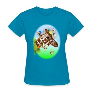 GIRAFFE and BUTTERFLIES-sun - Women's T-Shirt