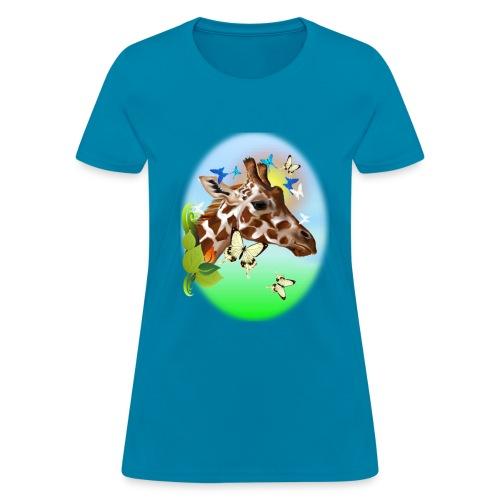 GIRAFFE and BUTTERFLIES-sun - Women's T-Shirt