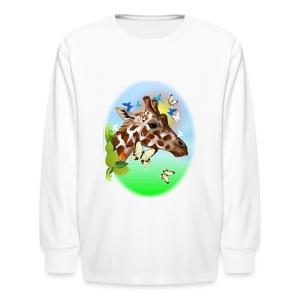 GIRAFFE and BUTTERFLIES-sun - Kids' Long Sleeve T-Shirt