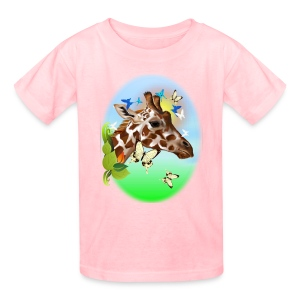 GIRAFFE and BUTTERFLIES-sun - Kids' T-Shirt
