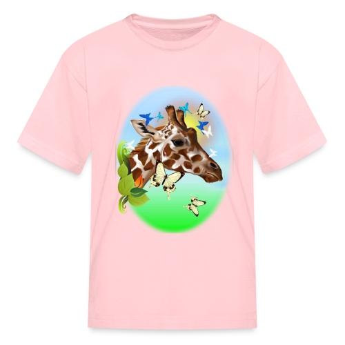 GIRAFFE and BUTTERFLIES-sun - Kids' T-Shirt