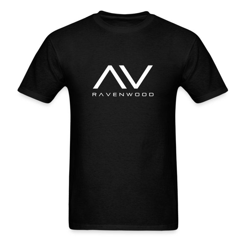 Ravenwood Black T-Shirt With Text - Men's T-Shirt