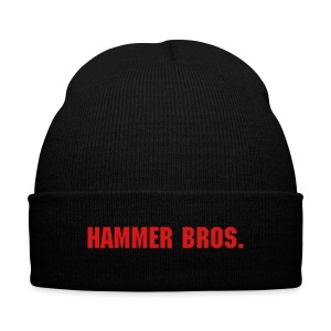 Hammer Bros Winter Hat - Knit Cap with Cuff Print