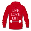 Live Love Lift Zip Hoodies/Jackets - stayflyclothing.com