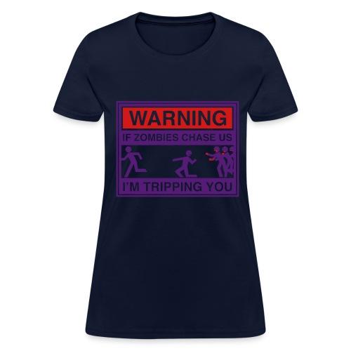Girls Zombie Chase - Women's T-Shirt