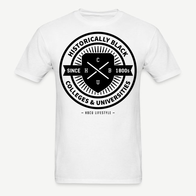 Historically Black Colleges (HBCUs Listed on Back) - Black and White Shirt