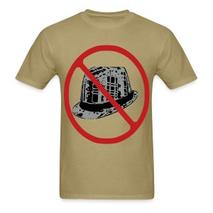 NO FEDORAS tshirt flock print offensive @bigoletitties hstreet - Men's T-Shirt