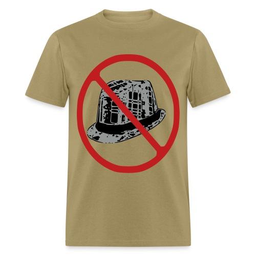 NO FEDORAS tshirt flock print offensive @bigoletitties hstreet - Men's T-Shirt